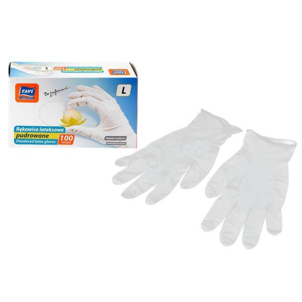 Rękawice lateksowe Ravi Rozmiar L